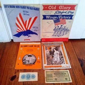 Vintage Sheet Music Bundle